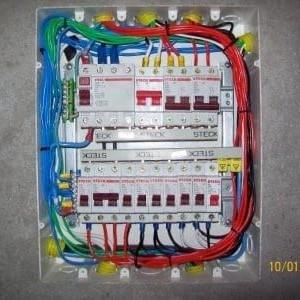 Quadro elétrico com barramento
